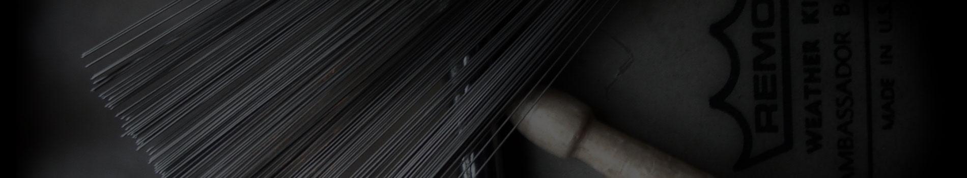 Image of Brush & Stick on Drum